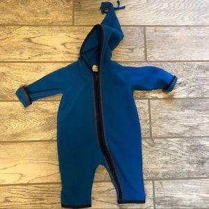 Great used condition Hanna fleece zip up bodysuit